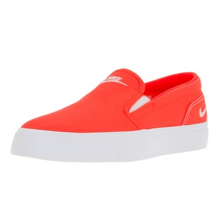 Nike Women's Toki Slip Canvas Total Crimson/White Casual Shoe