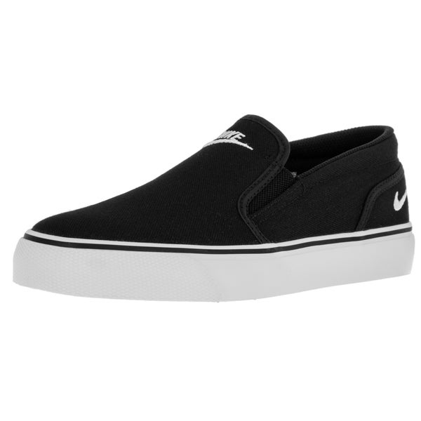 800ba4a178e Shop Nike Women s Toki Slip Canvas Black White Casual Shoe - Free ...