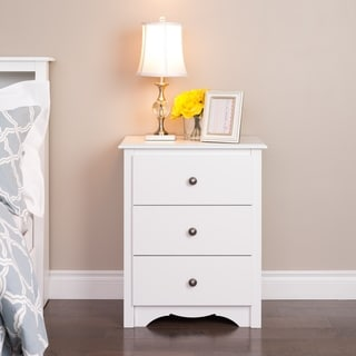 Copper Grove Periyar White 3-drawer Tall Nightstand