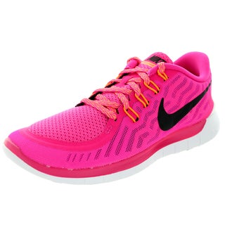Nike Women's Free 5.0 Pink Foil/Black/Pink Pw/Brght Ctrs Running Shoe