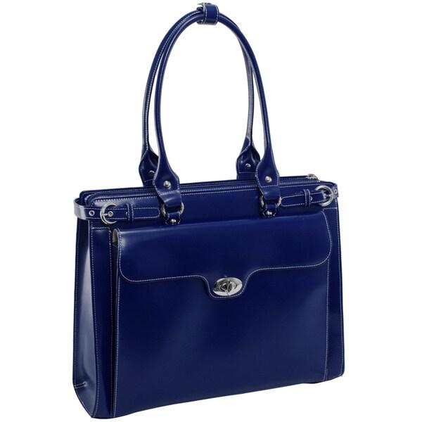 McKlein USA Winnetka Leather 15.6-inch Laptop Shoulder Briefcase