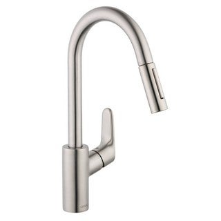 Hansgrohe Focus Single Hole Steel Kitchen Faucet