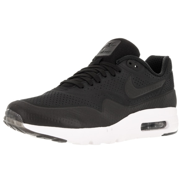 30c9f602fd3c2 Shop Nike Men's Air Max 1 Ultra Moire Black/Black/White Running Shoe - Free  Shipping Today - Overstock - 12329145