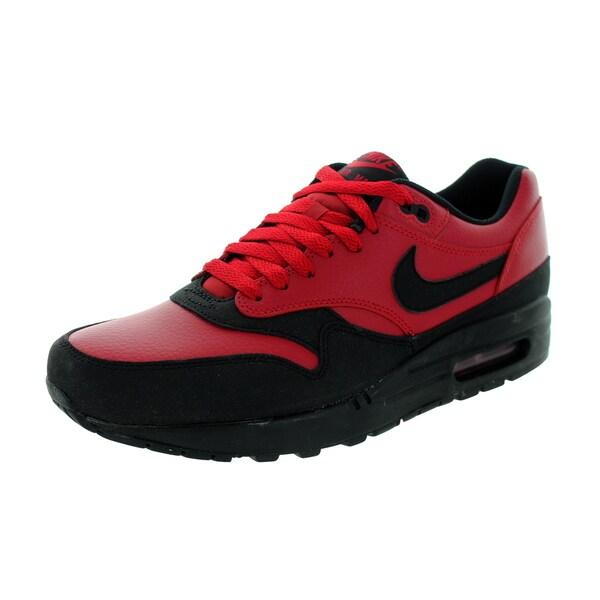brand new 815bc 13c53 Nike Men  x27 s Air Max 1 Ltr Premium Gym Red Black Running