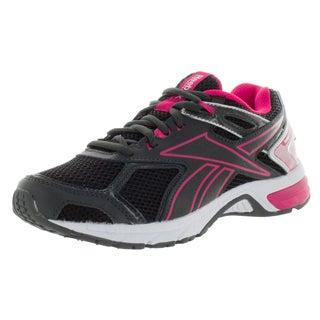 Reebok Women's Quickchase Wide D Gravel/Pinkver/White Running Shoe