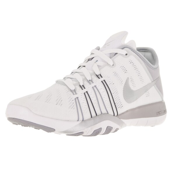 info for b2db5 7495c Nike Women  x27 s Free Tr 6 White Metallic Silver Grey Training