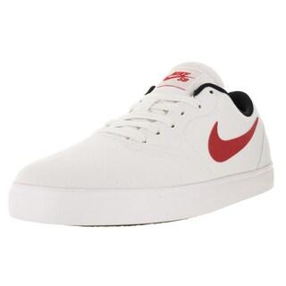 Nike Men's Sb Check Cnvs ite/University Red/Black/White Skate Shoe