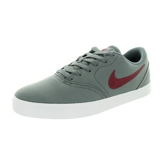 Nike Men's Sb Check Cnvs Cool Grey/Team Red/White Skate Shoe