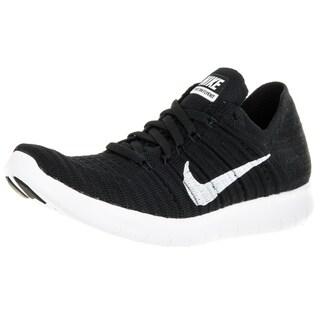 Nike Women's Free Flyknit Black/White Running Shoe