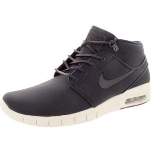 Nike Men's Stefan Janoski Max Mid L Drk Obsdn/Drk Obsdn/Metallic Silver Skate Shoe
