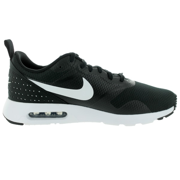 Shop Nike Men's Air Max Tavas BlackWhiteBlack Running Shoe