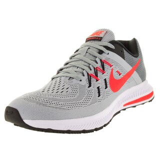 Nike Men's Zoom Winflo 2 Grey/Brght Crsn/Black/White Running Shoe