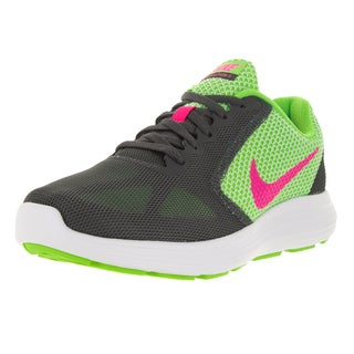 Nike Women's Revolution 3 G/Pink/Dark Grey/Whit Running Shoe