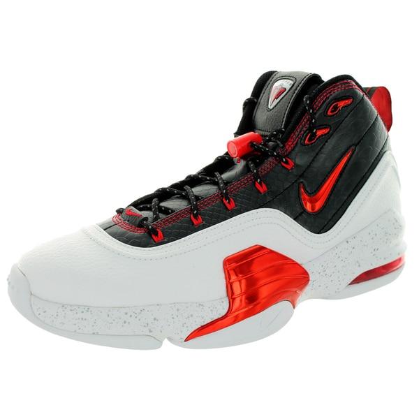 7c6e263d615d Shop Nike Men s Pippen 6 White University Red Black Basketball Shoe ...