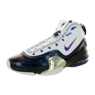 Nike Men's Pippen 6 Whiteurple/Metallic Silver Basketball Shoe