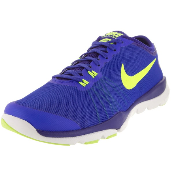 2aa240fa1d12 Shop Nike Women s Flex Supreme Tr 4 Racer Blue Volt Concord Bl Tnt Training  Shoe - Free Shipping Today - Overstock - 12329340