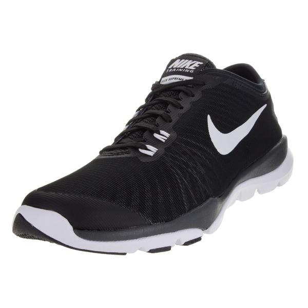 898221de045c Shop Nike Women s Flex Supreme Tr 4 Black White Anthracite Stealth ...