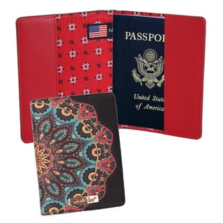 Nicole Lee Twilight Multicolored Synthetic Leather/Nylon Print Passport Holder