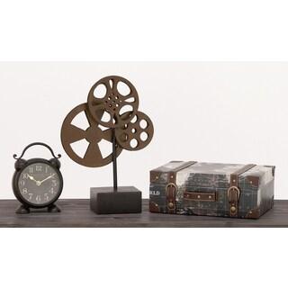 Urban Designs Hollywood Vintage Movie Reel Table Decor Stand