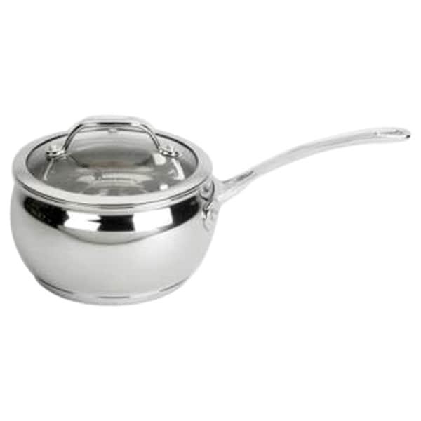 David Burke Gourmet Pro Splendor 2qt Chef Sauce Pan Pot With Lid Stainless Steel