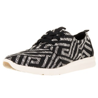 Toms Women's Del Rey Sneaker Black Tribal Casual Shoe