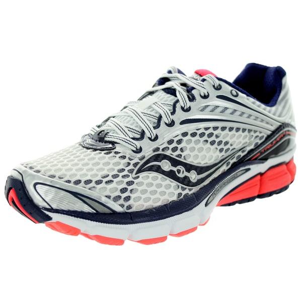 Saucony Women's Triumph 11 White/Navy Running Shoe