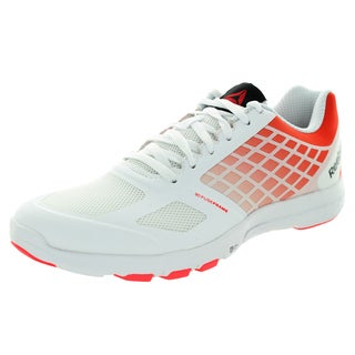 Reebok Women's Quantum Leap White/Neon Cherry/Black Training Shoe
