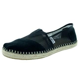 Toms Women's Classic Black Mesh Casual Shoe