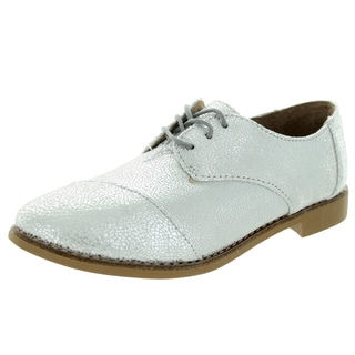 Toms Women's Brogue Silver Crackled Casual Shoe
