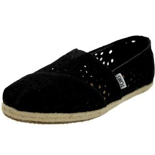 Toms Women's Classics Cutout Black Morocan Casual Shoe