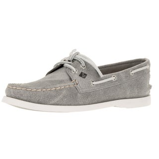 Sperry Top-Sider Women's A/O 2-Eye White Cap Grey Boat Shoe