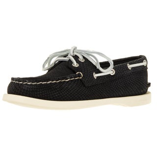 Sperry Top-Sider Women's A/O 2-Eye Python Black Boat Shoe