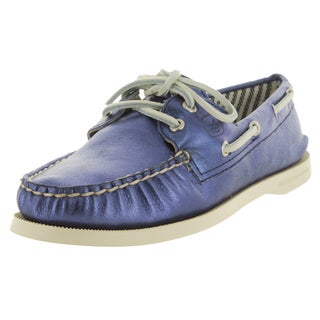 Sperry Top-Sider Women's Authentic Original Met Kidsuede Blue Boat Shoe