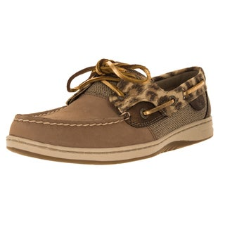 Sperry Top-Sider Women's Bluefish Leaopard Narrow Grge/Gld Boat Shoe