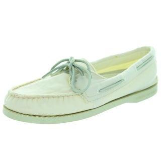 Sperry Top-Sider Women's Authentic Original 2-Eye Washed Ivory Boat Shoe