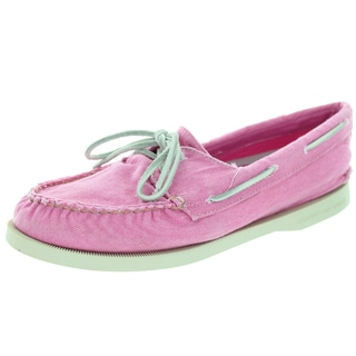 Sperry Top-Sider Women's Authentic Original 2-Eye Washed Pink Boat Shoe
