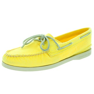 Sperry Top-Sider Women's Authentic Original Washed Yellow Boat Shoe
