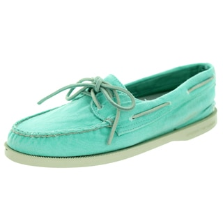 Sperry Top-Sider Women's Authentic Original 2-Eye Washed Turq Boat Shoe