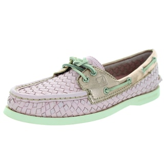 Sperry Top-Sider Women's Authentic Original Woven Light Pink Boat Shoe