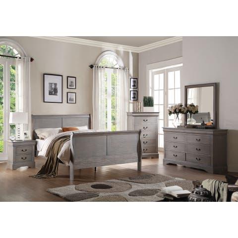 The Gray Barn Zephyr 4-piece Bedroom Set in Antique Grey