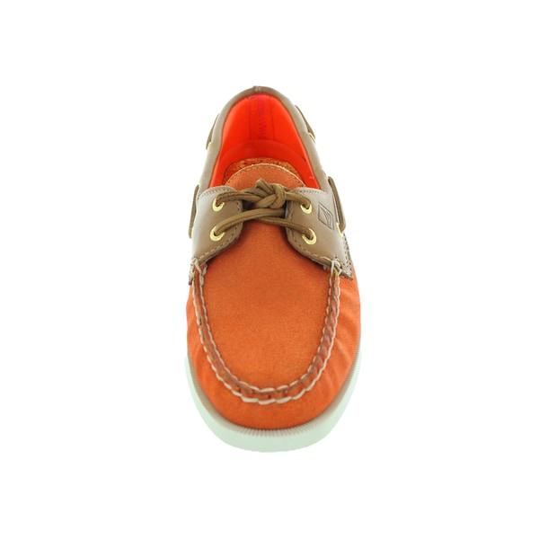 Orange Sparkle Boat Shoe - Overstock