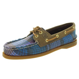 Sperry Top-Sider Women's Authentic Original Pruple Wool Plaid Boat Shoe