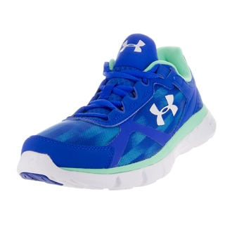 Under Armour Women's Micro G Velocity Gr Ubl/Ubl/White Running Shoe