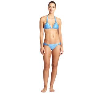 Vix Blue Triangle Bikini Bottom