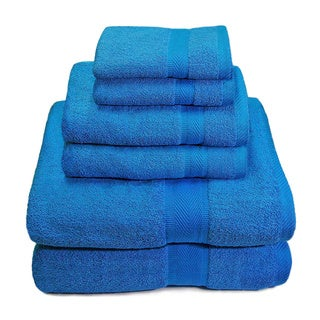 Premium 100-Percent Cotton 650 GSM 6-Piece Towel Set