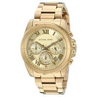 Michael Kors Women's  'Brecken' Chronograph Gold-Tone Stainless Steel Watch