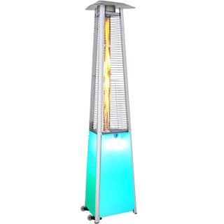 SUNHEAT Multicolored Aluminum Contemporary Portable Propane Patio Heater