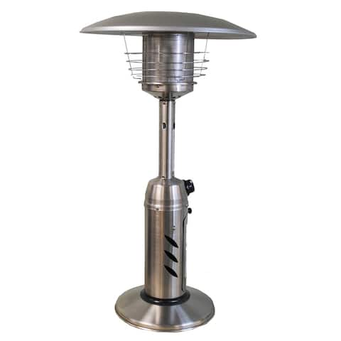 SUNHEAT Traditional Round Stainless Steel Tabletop Patio Heater