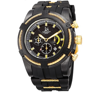Joshua & Sons Men's Quartz Chronograph Yellow Strap Watch