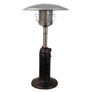 SUNHEAT Golden Hammered Steel Round-design Tabletop Patio Heater